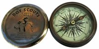 Brass Compass Maritime Boys Scout Of America Reproduction Compass