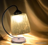 SILVER FROSTED GLASS TABLE LAMP