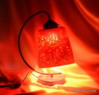 RED COLOR EFFECT TABLE LAMP