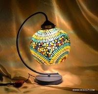 MULTI MOSAIC GLASS STUDY LAMP