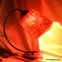 SILVER HANDMADE GLASS TABLE LAMP