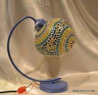 Beautiful Mosaic Beads Glass Table Lamp Lamp