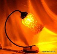 SILVER FINISH GLASS HANDMADE TABLE LAMP
