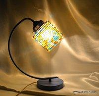 BANGLE DESIGN GLASS TABLE LAMP FOR NIGHT STUDY