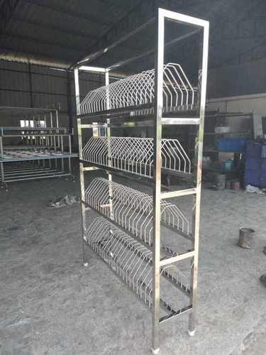 Stainless steel plate rack