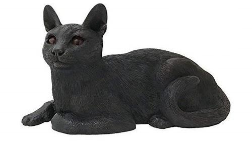 Shadow Cast Bronze Short Hair Cat Pet Urn