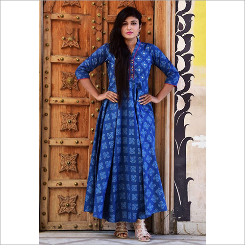 Printed Cotton Umbrella Kurti