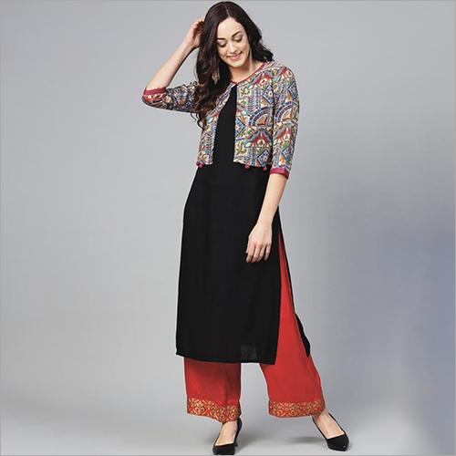 Ladies Designer Kurti Palazzo Suit