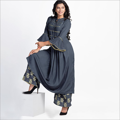 Ladies Fashionable Palazzo Suit