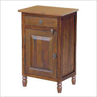 Wooden Colonial Bedside Cabinet