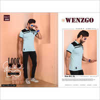 Mens Designer Collar T Shirt