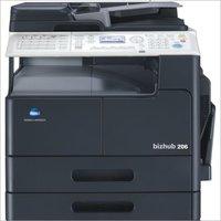 Konica Minolta Bizhub 206 photocopier machine with Network card + Original cover + Extended Control panel