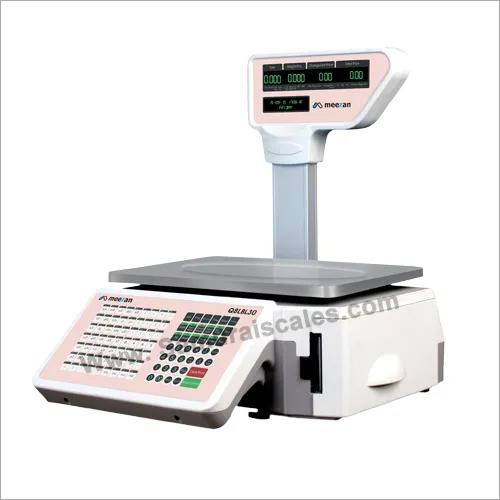 Inbuilt Label Printing Barcode Weighing machine