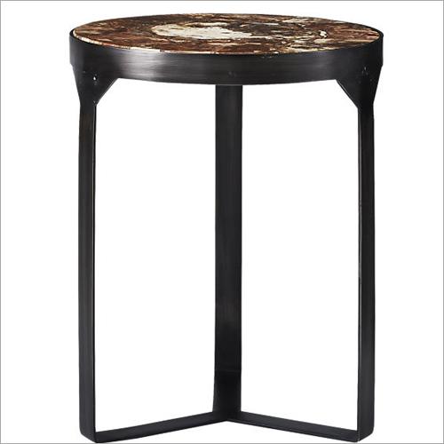 Metal Base Side Table