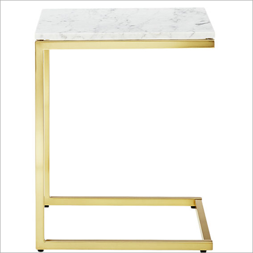 Steel Gold Color Coated Side Table
