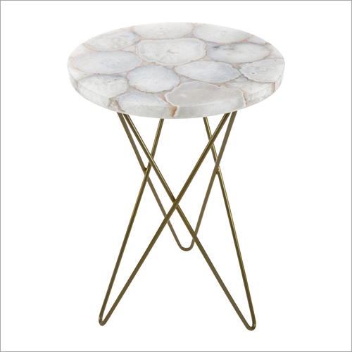 Metal & Marble Side Table