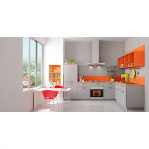 Designer L Shaped Modular Kitchen