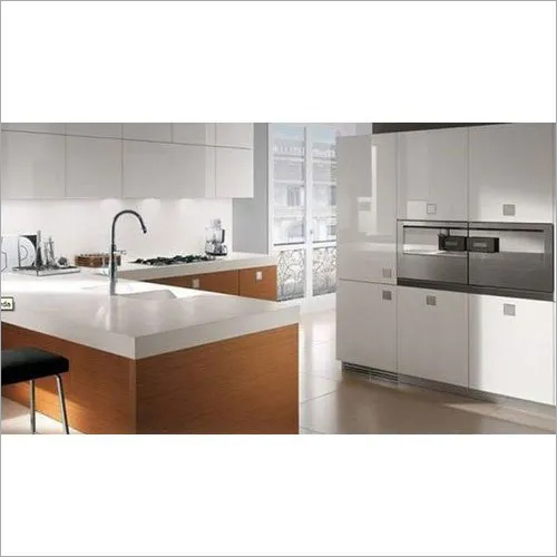 High Gloss PVC Modular Kitchen