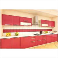 Straight PVC Modular Kitchen