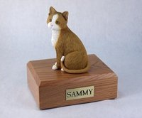 Cat Figurine Urns with Mango wood