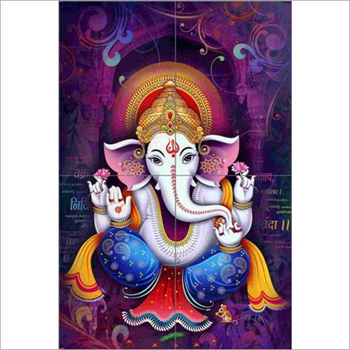 Colourful Ganesh Wall Tile