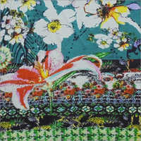 Multi Flora Printed Knitted Fabric