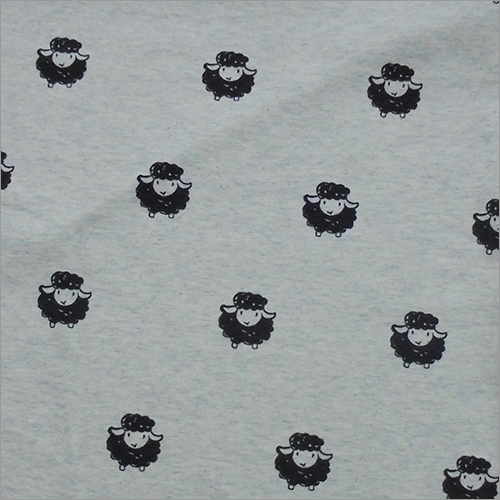 Sheep Print Knitted Fabric