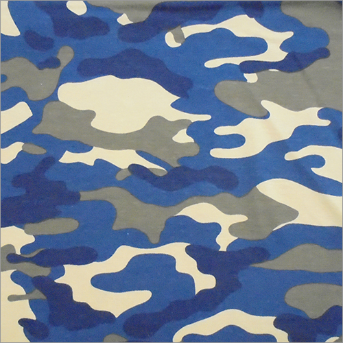 Army Printed Cotton Knitted Fabric