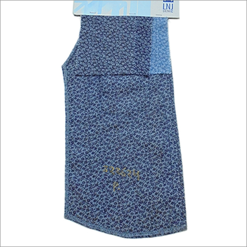 Washed Denim Printed Fabric