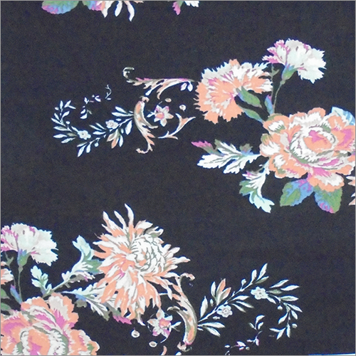 Printed Stretch Rayon Fabric