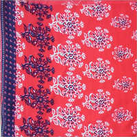 Rayon With Border Printed Fabric