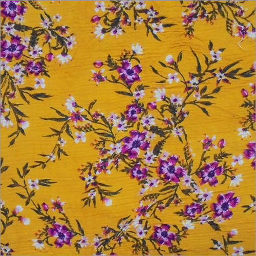 Rayon Crepe  with Flower Printed Fabric
