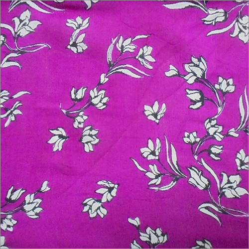 Simple Floral Rayon Crepe Printed Fabric