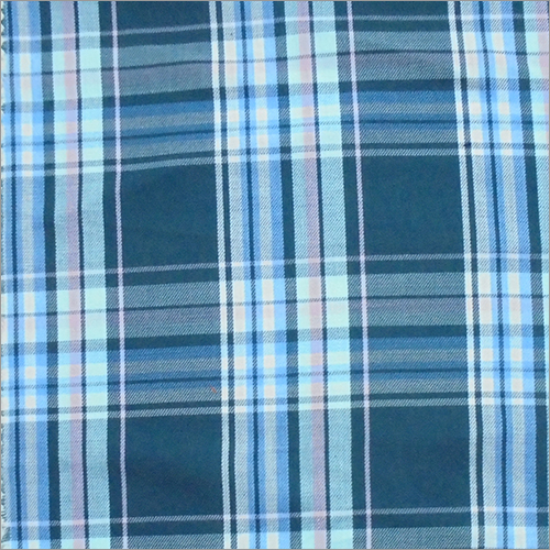 Blue Check Texture Fabric