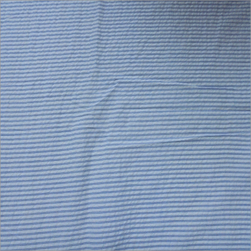Cotton White Dyed Strip Fabric