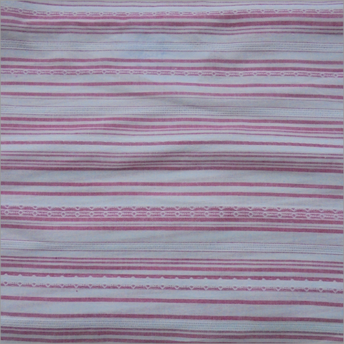 Yarn Dyed Pink Strip Fabric