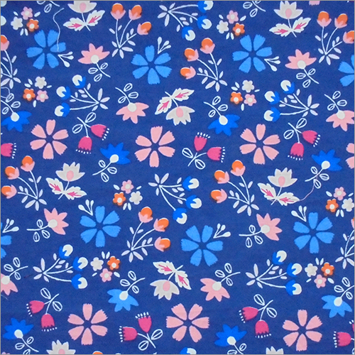 Cotton Popline Printed Fabric