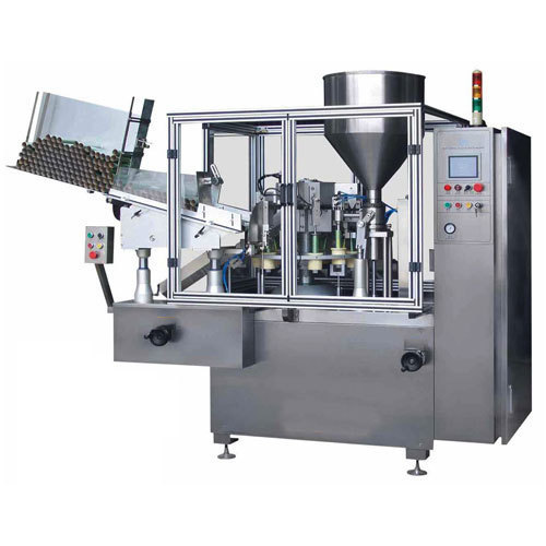 Automatic double head tube filling machine