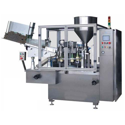 Automatic double head tube filling machine
