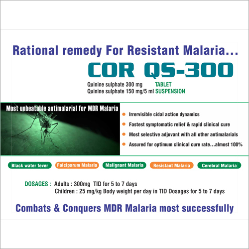 Cor QS-300 Antimalarial Tablet