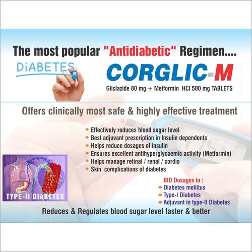 Gliclazide 80mg + Metformin Tablet