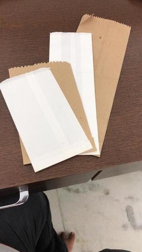 White & Brown Disposable Paper Bags