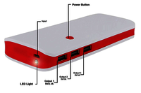 P3-RED POWER BANK