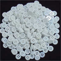 White Chalk Polyester Button