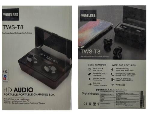 TWS T8 Bluetooth Earbuds Wireless Headphone