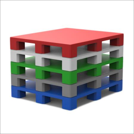 Multi Colors 4-Way Plastic Pallets