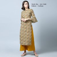 Straight Cotton Printed Kurti