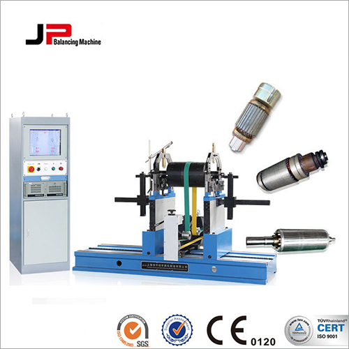 Spindle, Rubber Roller, Pulley, Stainless Steel Roller Belt Drive Balancing Machine