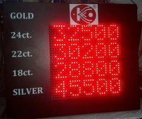 LED Gold Rate Display Board