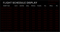 Flight LED Schedule Display Board